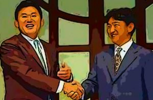三木谷社長と田尾監督