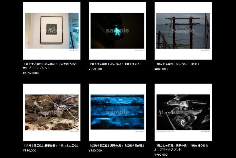 作品が自身のホームページで176万円で販売されている